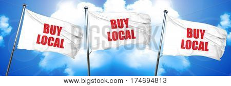 buy local, 3D rendering, triple flags