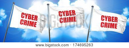 cybercrime, 3D rendering, triple flags