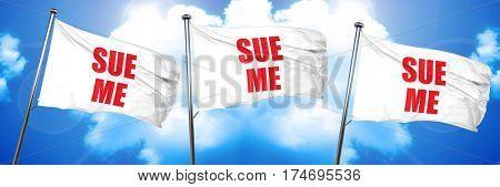 sue me, 3D rendering, triple flags