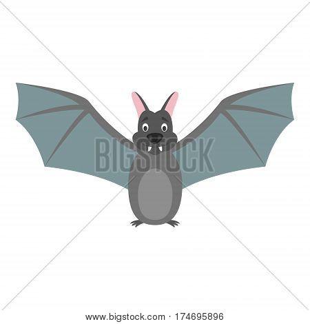 Cute bat in cartoon style vector illustration