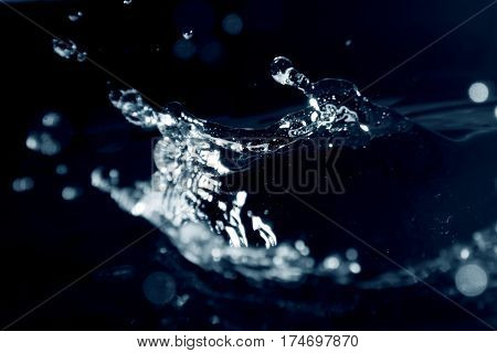 Water background / Water is a transparent and nearly colorless chemical substance that is the main constituent of Earth's streams, lakes, and oceans, and the fluids of most living