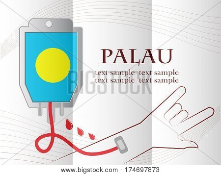blood donation design made from the flag of Palau conceptual vector illustration.