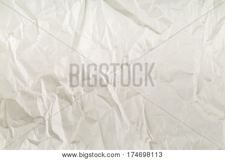 Crumbled grey empty clean paper texture background