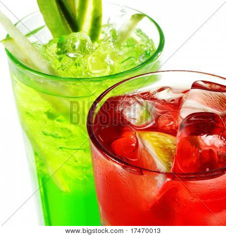 Red and Green Alcoholic Cocktails