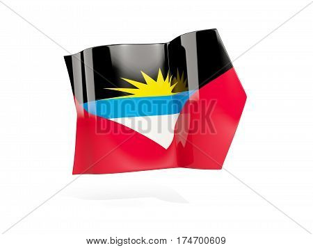 Arrow With Flag Of Antigua And Barbuda