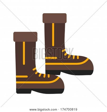 Firefighter, boots, equipment icon vector image. Can also be used for firefighting. Suitable for web apps, mobile apps and print media.