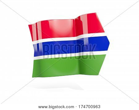 Arrow With Flag Of Gambia