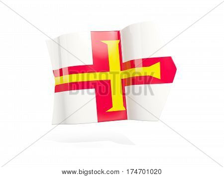 Arrow With Flag Of Guernsey