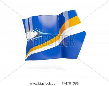 Arrow With Flag Of Marshall Islands