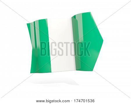 Arrow With Flag Of Nigeria