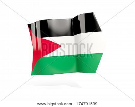 Arrow With Flag Of Palestinian Territory