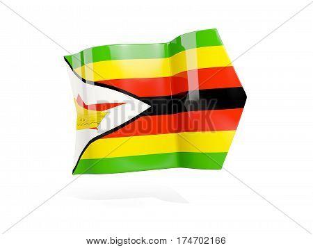 Arrow With Flag Of Zimbabwe