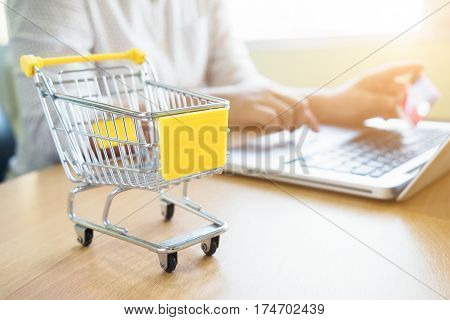 Business Theme Internet Online Shopping And Delivery Concept