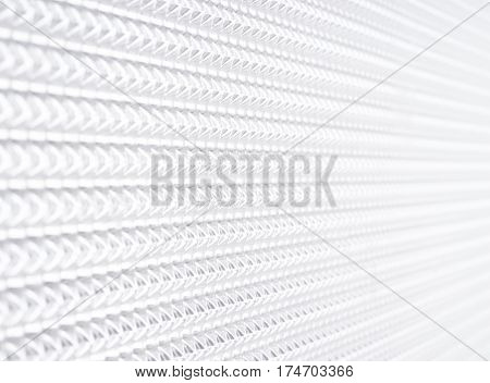 geometric white background Future abstract close up