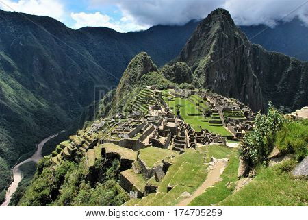 Machu Picchu, Peru View of the Incas city in the Cusco region in Peru