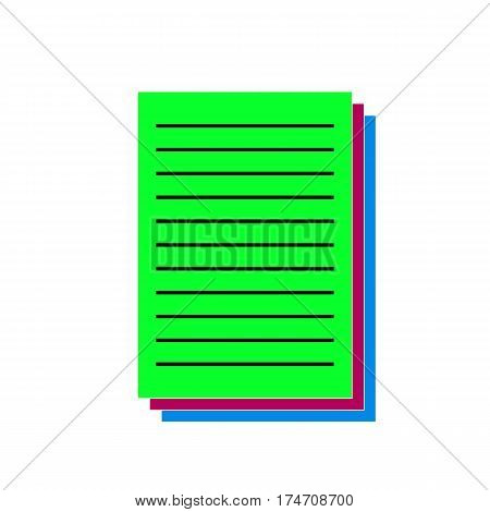 document Icon Vector Illustration on the white background.