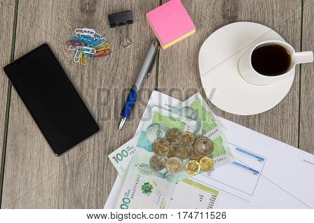 Business and budget planning with Colombian money