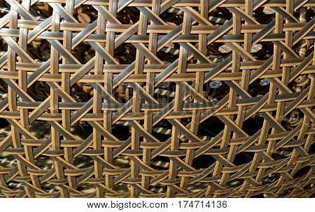 Unique Pattern and Texture of Dark and Light Brown Rattan Furniture, Thailand
