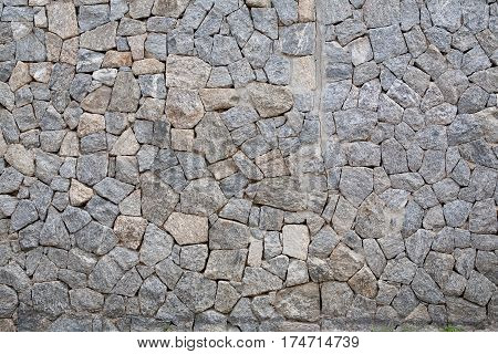 brick rock wall texture in abstract background