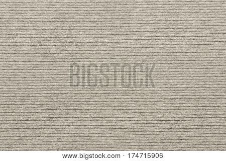 background and texture of knitted striped fabric of pale beige color in big resolution