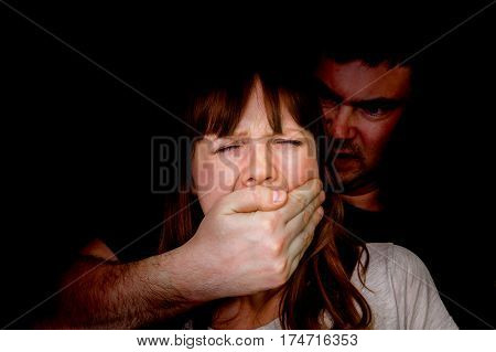 Man Covering Woman's Mouth So She Couldn't Scream