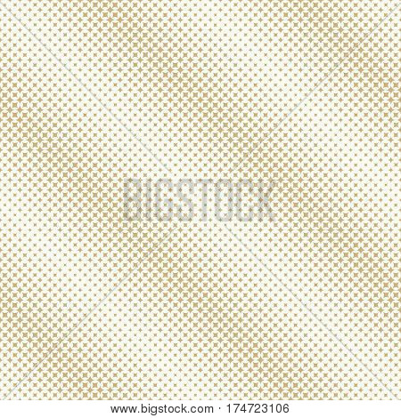 Vector seamless pattern. Diagonal abstract halftone background. Modern stylish texture. Repeating grid with rhombuses and diamonds of the different size. Gradation from bigger to smaller