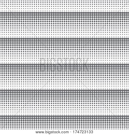 Vector seamless pattern. Abstract halftone background. Modern stylish texture. Repeating grid with dots and dotted lines of the different size. Gradation from bigger to smaller