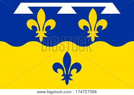 Flag of Loir-et-Cher is a department in the Centre-Val de Loire region France.