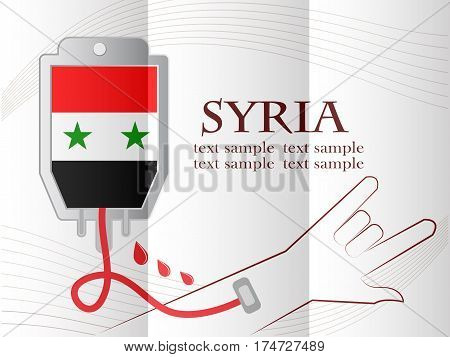 blood donation design made from the flag of Syria conceptual vector illustration.