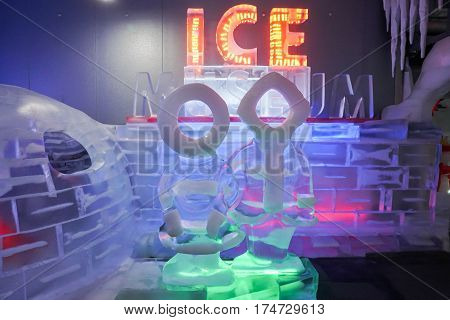 interior design in Ice Museum for taking photo at Seoul South Korea on 21 February 2017