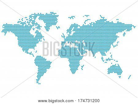 World Continents Map - Dots style vector illustration