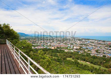 Hua Hin City From Scenic Point, Hua Hin, Thailand