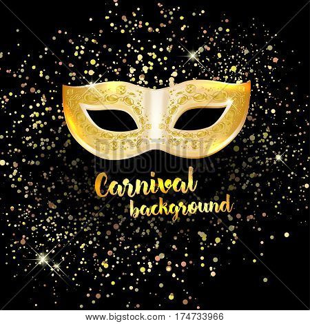Carnival Mask On Dark And Shiny Background