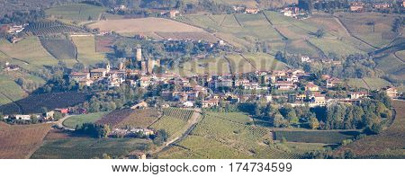 Le Langhe Castiglione Falletto and scenic landscape