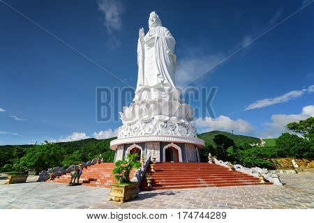 Majestic View Of The Lady Buddha (the Bodhisattva Of Mercy)