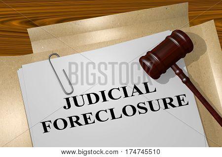 Judicial Foreclosure Concept