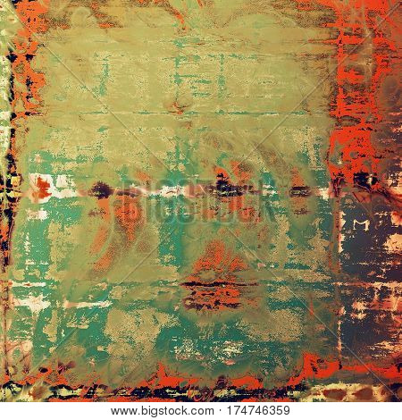 Grunge texture, decorative vintage background. With different color patterns: brown; gray; red (orange); purple (violet); green; cyan
