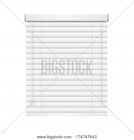 Realistic Blank Jalousie Roller Shutters Blind Concept Of Protecting Privacy. Vector illustration