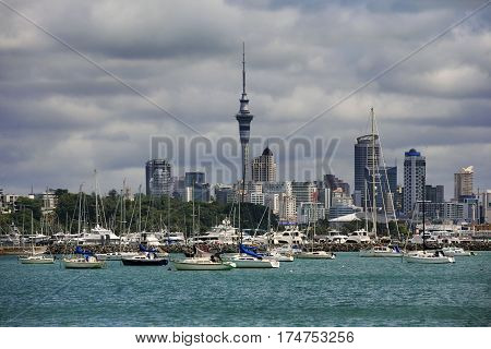 Waitemata Harbour Auckland Harbour View. North Island New Zealand