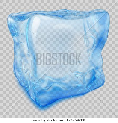Transparent Light Blue Ice Cube