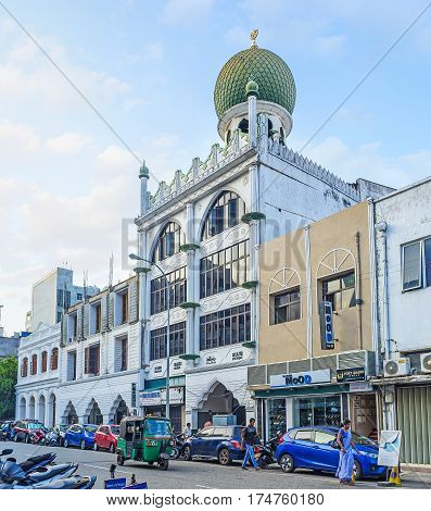 The Jumma Mosque Of Fort District In Colombo