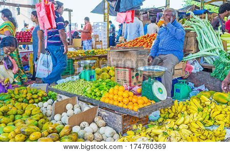 Exotic Fruits At Sri Lankan Market