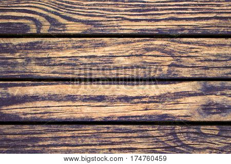 Contrast wood planks closeup. Rough lumber surface. Warm brown wooden background for vintage card. Timber texture closeup. Wooden board wallpaper or backdrop photo. Natural material banner template