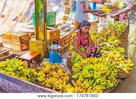Banana Sellers At Fose Market