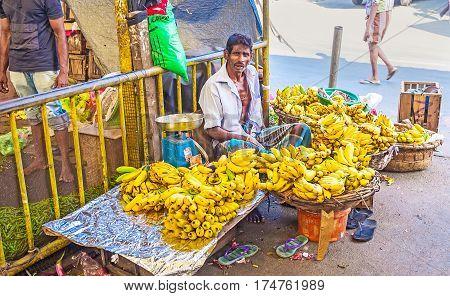 Banana Seller In Fose Market