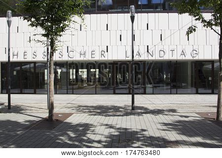 Facade Of Modern Building Of The Hesse Parliament