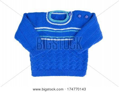 Sweater isolated on white background. Children warm pullover. Winter sweater.