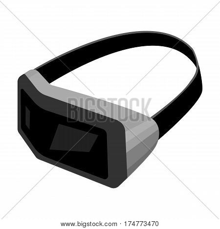 Virtual reality headset icon in cartoon design isolated on white background. Personal computer accessories symbol stock vector illustration.