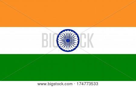 National India flag India flag Vector illustration