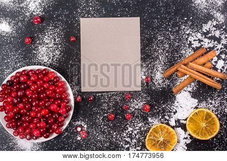 Cranberries With Sugar Powder Dryed Lemon